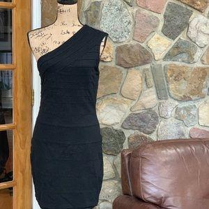Express one shoulder bodycon dress size L